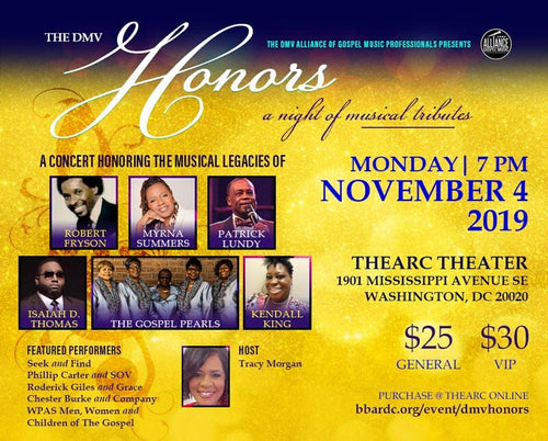 DMV Honors- A Night of Musical Tributes $30 (Vip)