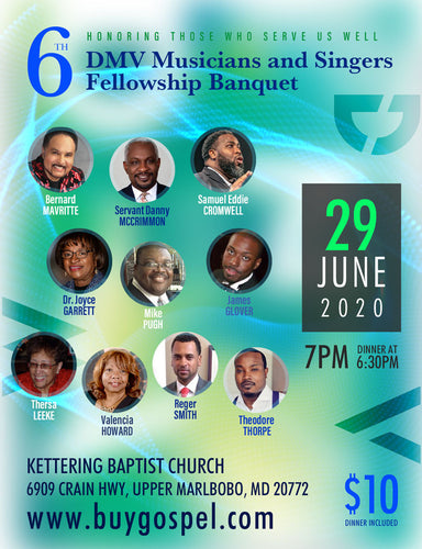 6th DMV Musicians and Singers Fellowship Banquet (6909 Crain Hwy, Upper Marlboro, MD 20772) - General Admission (Admit one)