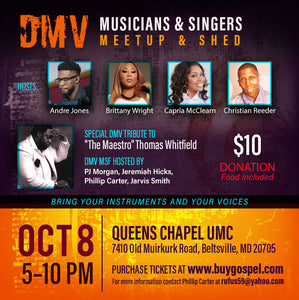 DMV Musicians and Singers Fellowship Meetup and Shed- Queens Chapel UMC, 7410 Old Muirkirk Rd, Beltsville, Md 20705