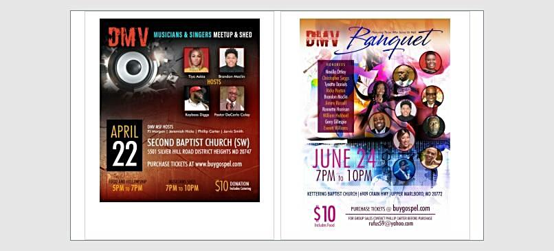 DMV Musicians and Singers Fellowship Shed and Banquet Combo Ticket