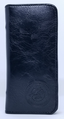 Image of OneHitOneDa Embossed Black Leather DaGoBag Odor Blocking Wallet for CBD