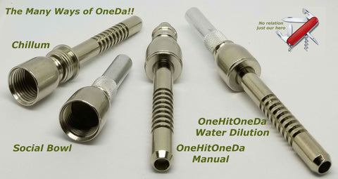 Image of OneHitOneDa offers 4 pipes in OneDa.  The most versatile Microdoser available