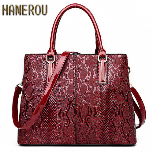 Luxury Snake Skin Style Shoulder Bags -PU Leather (Vegan Friendly)