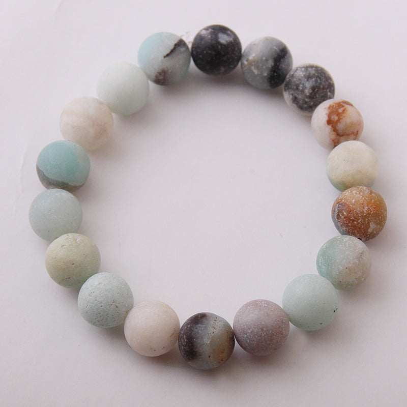 New Design Energy Bracelets Made By 10mm Beautiful Natural Amazonite Stone Bracelet bangle
