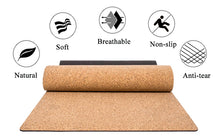 Eco-Friendly Non-Slip Cork Yoga Mat  5MM