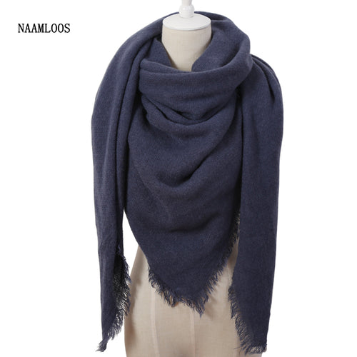 Cashmere Blend Warm Square Scarf