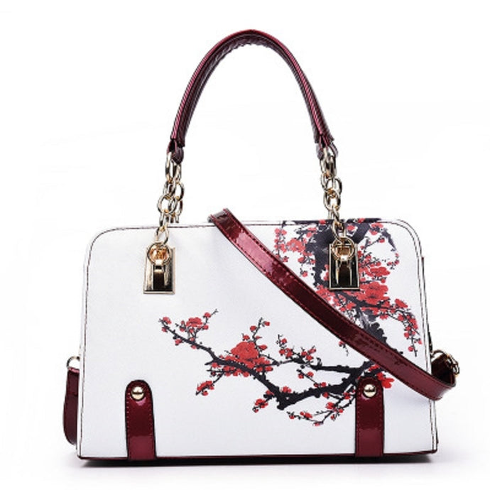 Cherry Blossom Floral Printed Purse