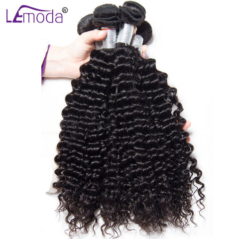 Deep wave Brazilian hair weave bundles human hair bundles 1 Pc only LeModa 100% Remy hair bundle hair extension free shipping