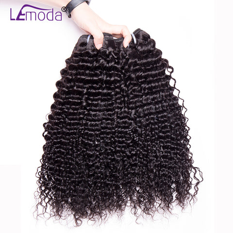 Malaysian curly hair bundles 100% human hair weave Lemoda hair extension non remy hair bundles 1 pc only 10~28 inch