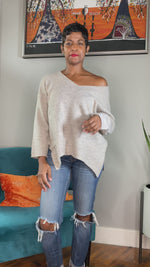 kava boutique oatmeal sweater