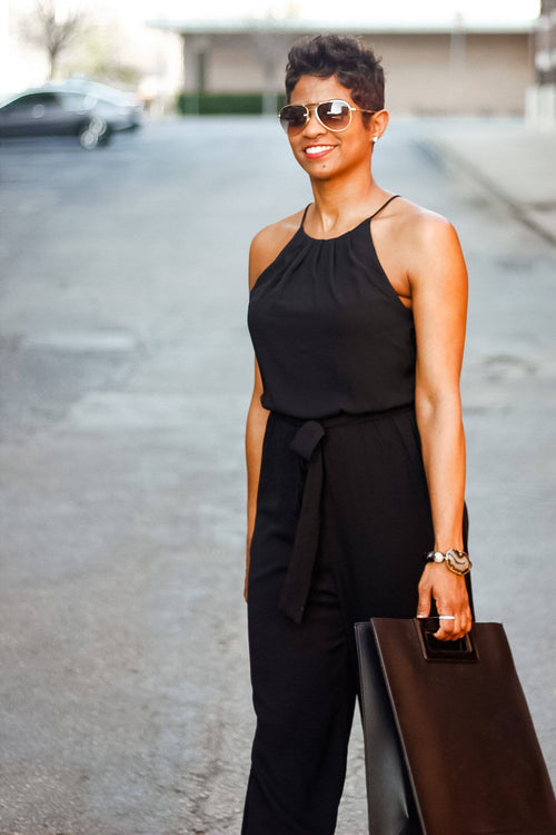 Black Halter Top | Jumpsuit - My Kava Boutique