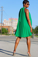Halter Style Pleated | Dress - My Kava Boutique