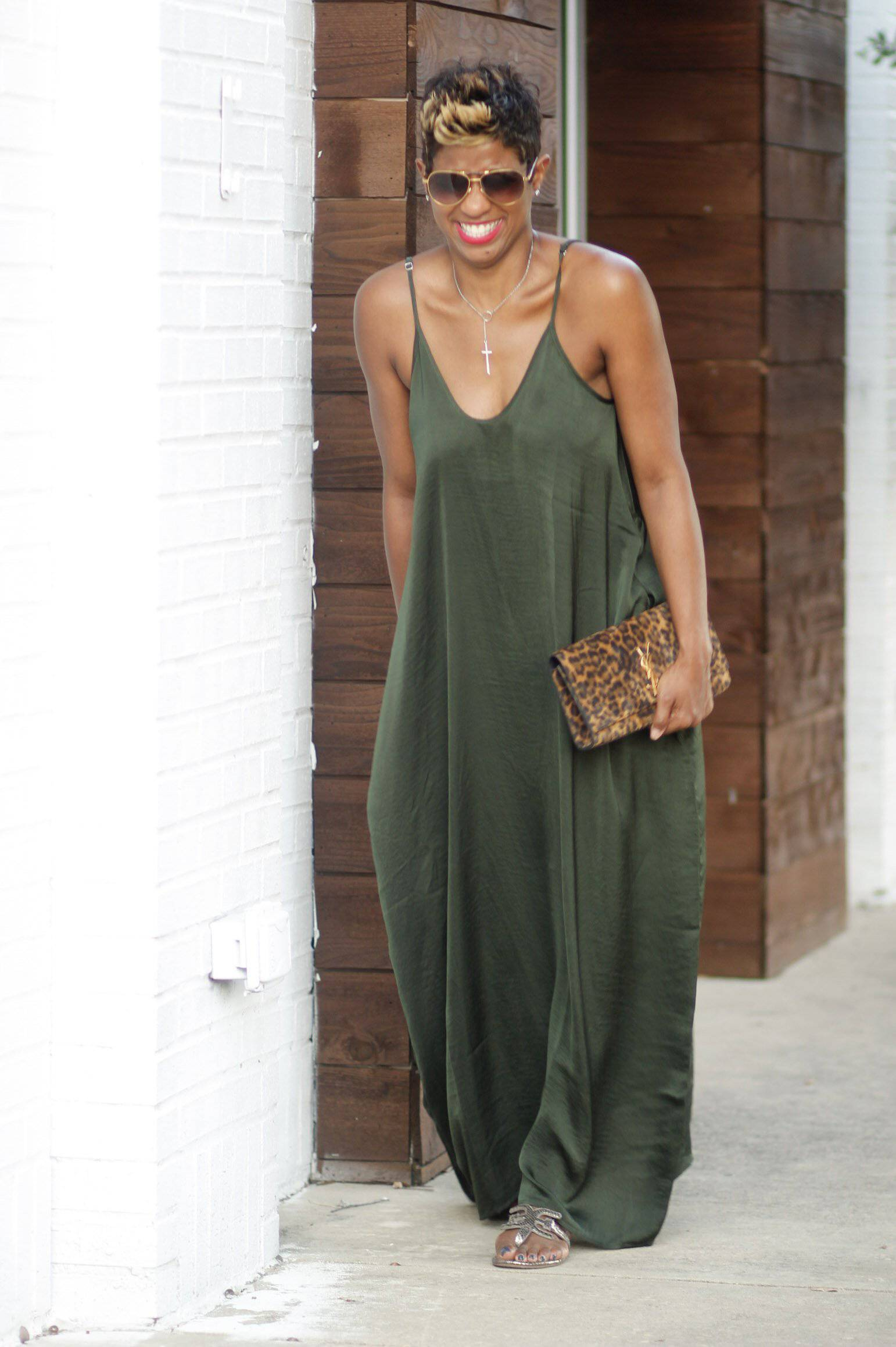 Elegant Olive Green | Maxi Dress - My Kava Boutique