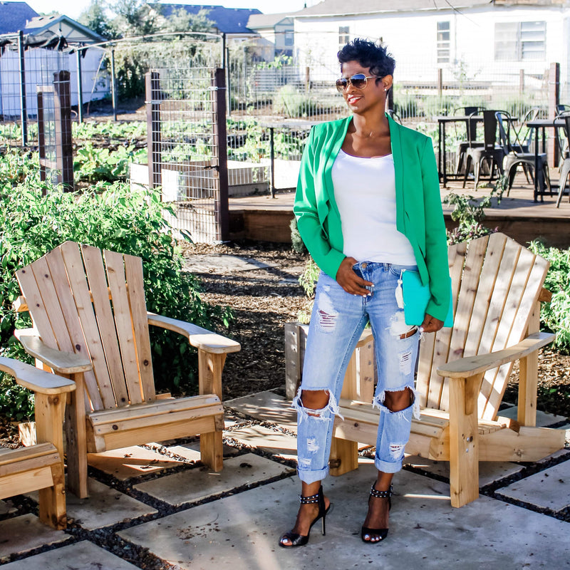 Green Fitted | Blazer - My Kava Boutique