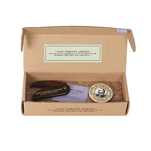 CAPTAIN FAWCETT'S SET CERA PARA BIGOTE RICKY HALL´S BOOZE AND BACCY CON PEINETA PLEGABLE
