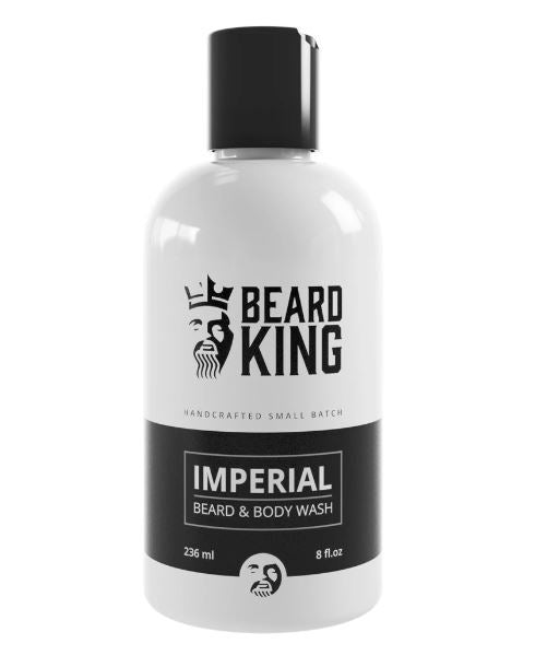 SHAMPOO PARA BARBA Y CUERPO BEARD KING IMPERIAL 236 ml.