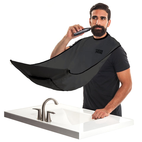 BEARD BIB, CAPA PARA BARBA, COLOR NEGRO