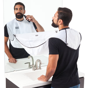 BEARD BIB, CAPA PARA BARBA, COLOR BLANCO