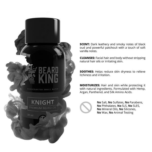 ACEITE PARA BARBA BEARD KING KNIGHT 30 ml.