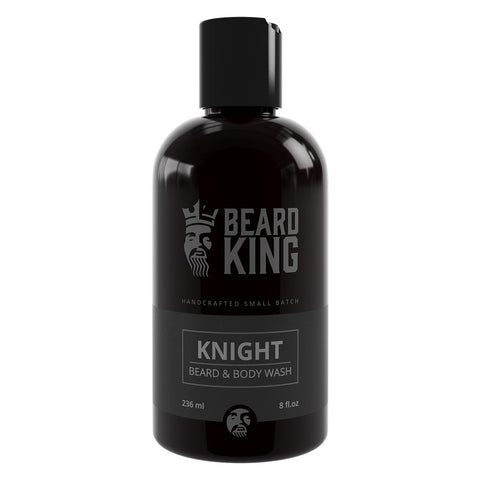 SHAMPOO PARA BARBA Y CUERPO BEARD KING KNIGHT 236 ml.