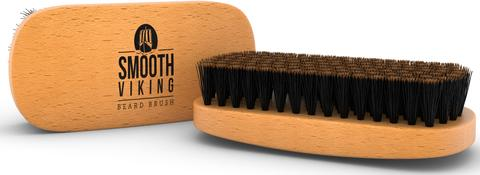 SMOOTH VIKING SET CEPILLO Y PEINETA PARA BARBA-COLOR NATURAL