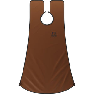 BEARD BIB, CAPA PARA BARBA, COLOR CAFE