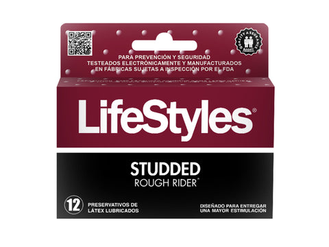 LIFESTYLES STUDDED ROUGH RIDER-12 UNIDADES