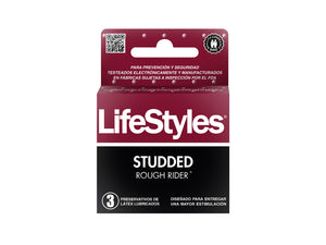 LIFESTYLES STUDDED ROUGH RIDER-3 UDS.
