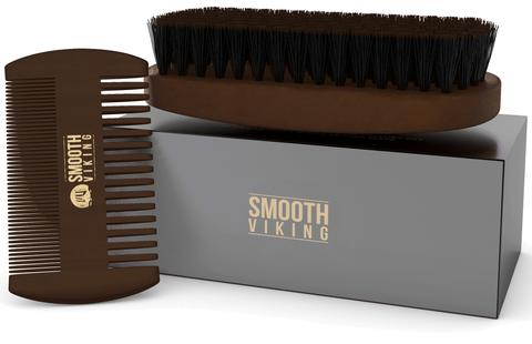 SMOOTH VIKING SET CEPILLO Y PEINETA PARA BARBA