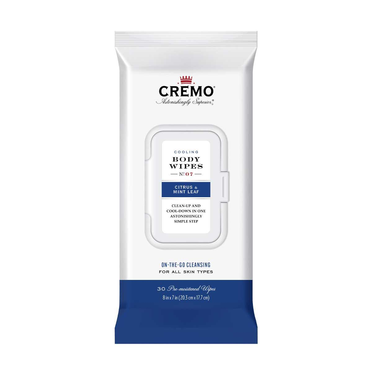 CREMO BODY WIPES-Citrus & Mint Leaf