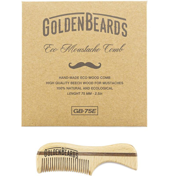 GOLDEN BEARDS PEINETA ECOLOGICA PARA BARBA Y BIGOTE-75 mm