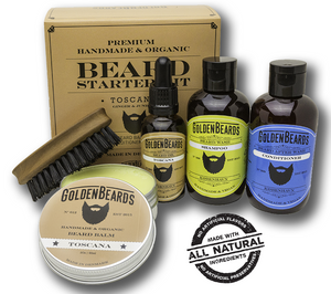 GOLDEN BEARDS SET COMPLETO PARA BARBA- 4 variedades