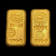 Authentic N.M. Rothschild & Sons Gold Ingot Collection