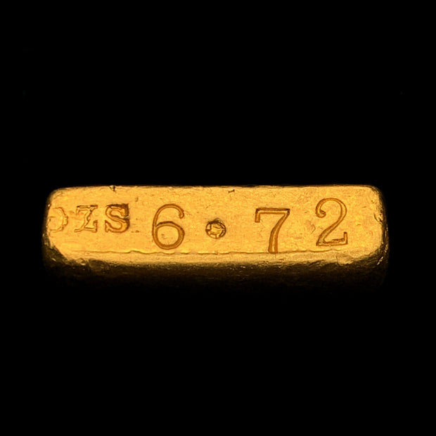 Authentic New York Assay Office of 1959 6.72 toz Odd Weight Gold Ingot