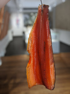 Side of Boneless Cold Smoked Petuna Ocean Trout, Pick up December 31