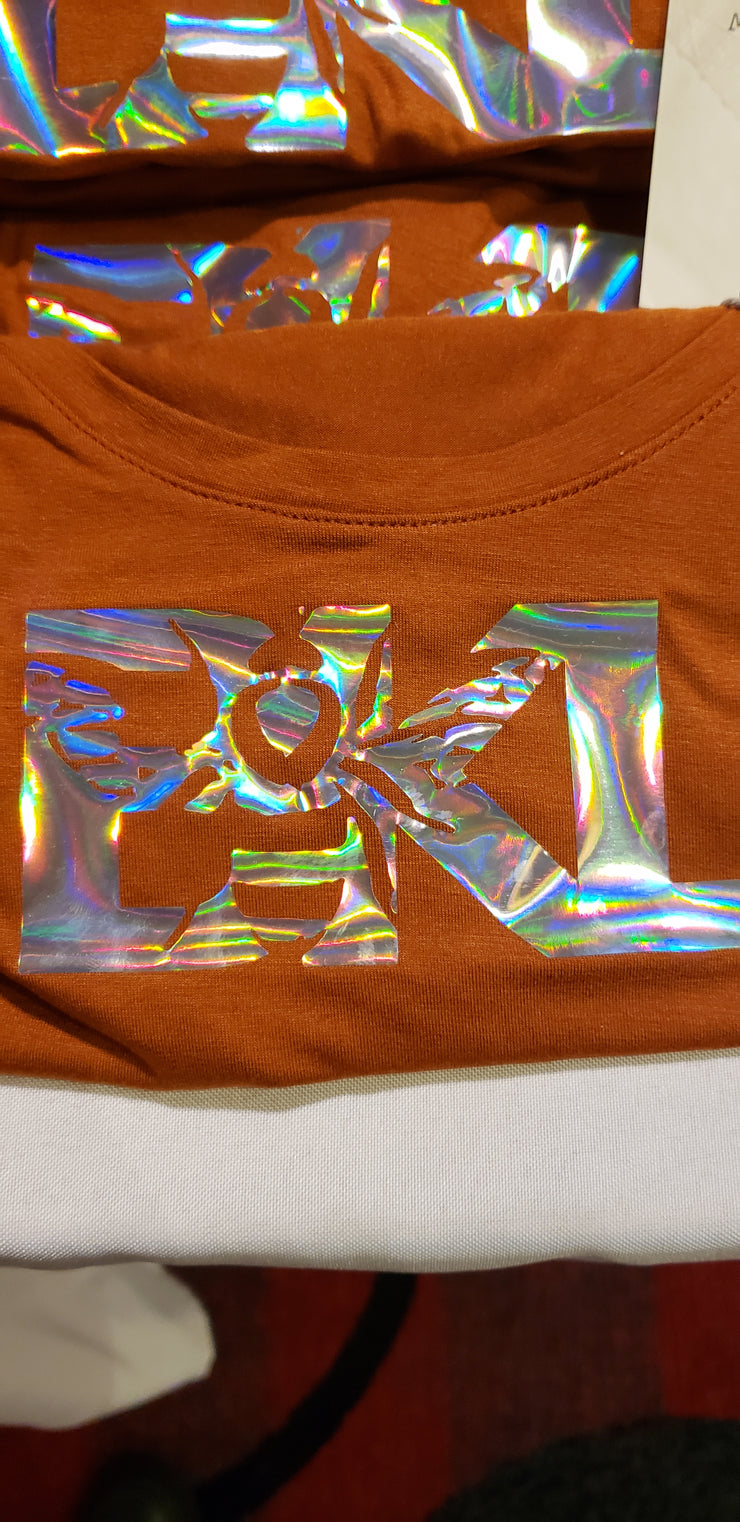 Orange Holo Shirts