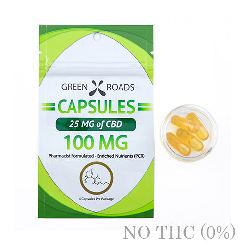 CBD Capsules 100mg BY GREEN ROADS