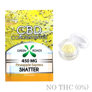 CBD SHATTER PINEAPPLE EXPRESS 450MG BY GREEN ROADS