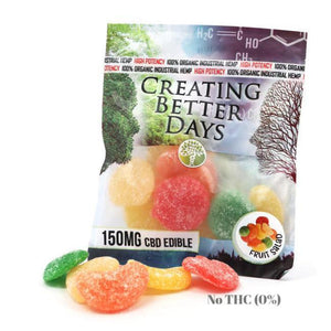 Creating Better Days - 150MG CBD Mixed Fruit Gummies (Packaged)