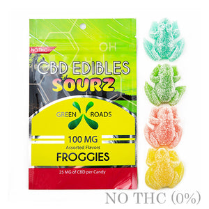 CBD EDIBLE SOURZ FROGGIES 100MG BY GREEN ROADS