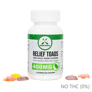 CBD RELIEF TOADS 400MG BY GREEN ROADS