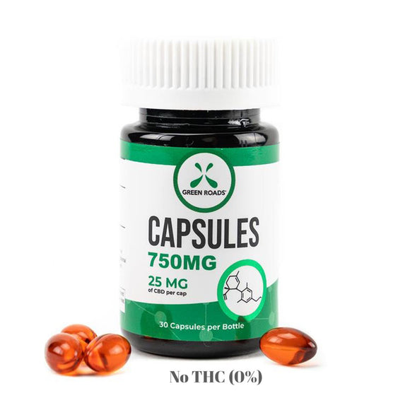 CBD Capsules 750mg BY GREEN ROADS