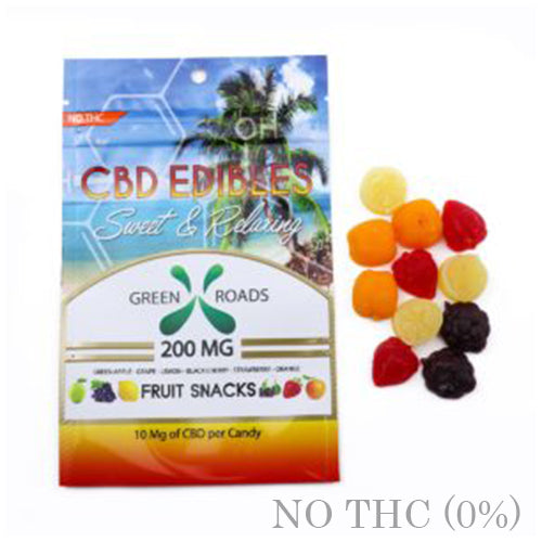 CBD EDIBLE Fruit Snack 200MG BY GREEN ROADS