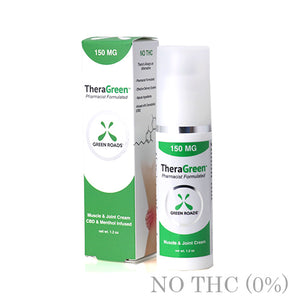 CBD TheraGreen Pain Cream 300MG BY GREEN ROADS