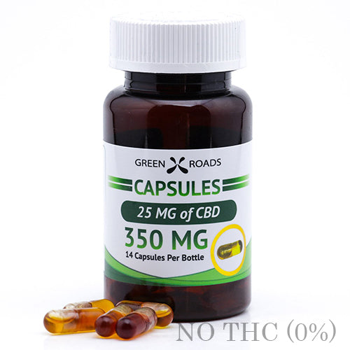 CBD Capsules 350mg BY GREEN ROADS