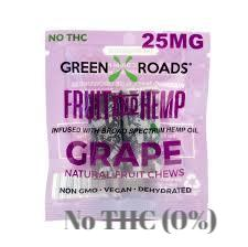 CBD FRUIT AND HEMP GRAPE BY GREEN ROADS (25 MG)