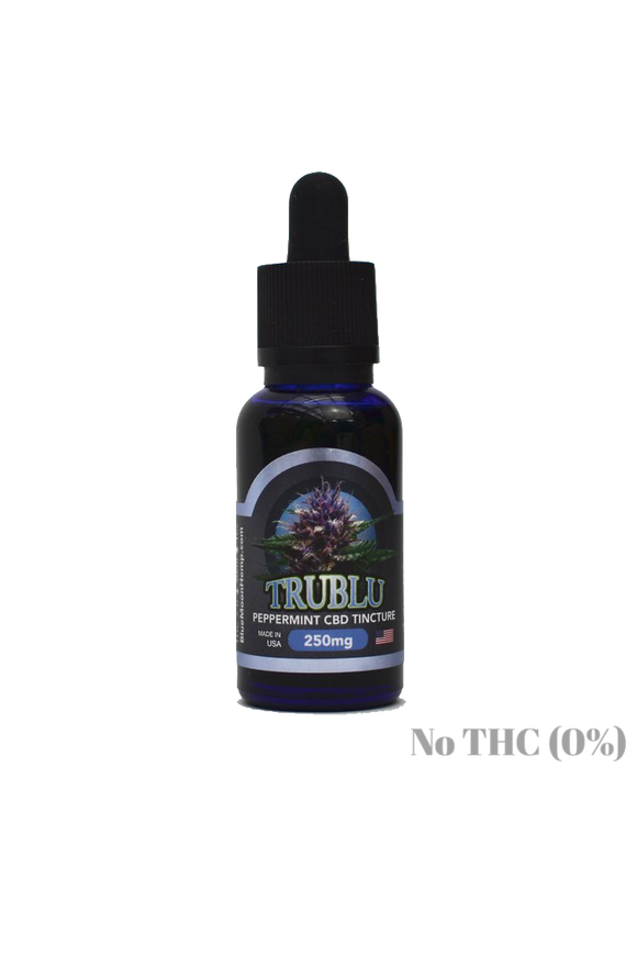 Blue Moon Hemp: TRUBLU - PEPPERMINT CBD TINCTURE (250mg)