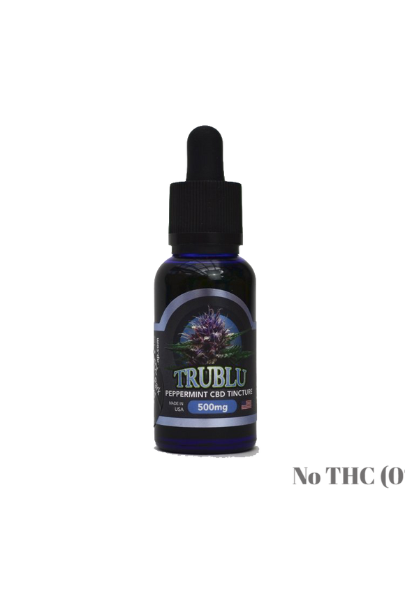 Blue Moon Hemp: TRUBLU - PEPPERMINT CBD TINCTURE (500mg)
