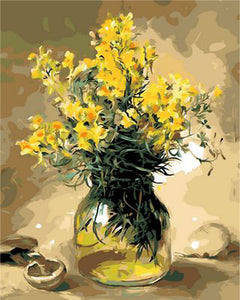 Diy modern yellow flowers painting colournumbers diy modern yellow flowers painting mightylinksfo