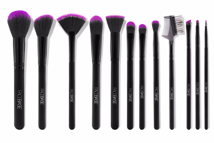 12-Piece Brush Set - Purple